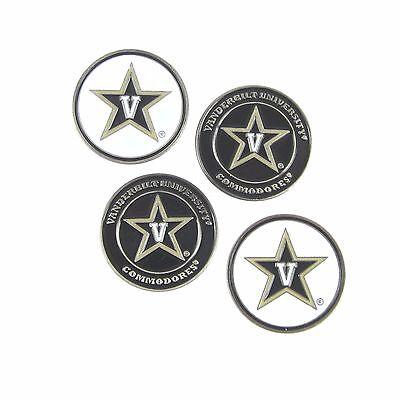 Vanderbilt (VU) Commodores NCAA Golf Ball Markers (Set of 4) Vanderbilt Commodores Ncaa Ball