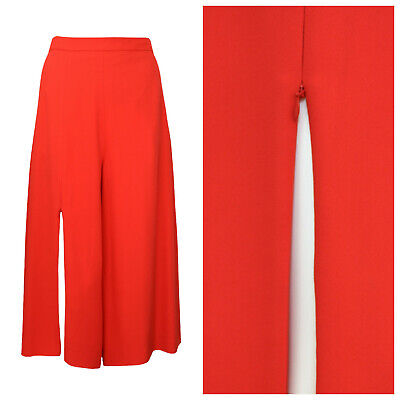 NEW Hussein Chalayan Red Slit Culottes Shorts Skirt Size M 14 12