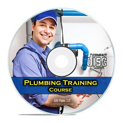 Plumber Journeyman Training Course Class, Learn Master Plumbing School CD G99