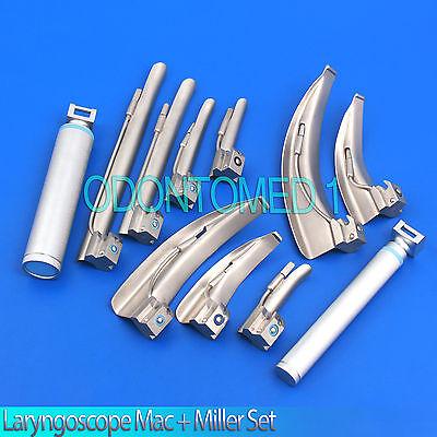 Laryngoscope Mac Miller Set Emt Anesthesia Intubati Instruments