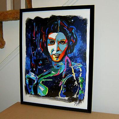Princess Leia  Carrie Fisher  Actress  Star Wars  Alderaan  18X24 Poster W Coa 2