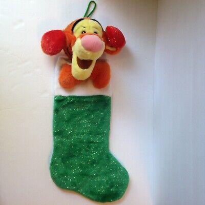 "Walt Disney Winnie the Pooh Plush Tigger Earmuffs 22"" Holiday Christmas Stocking"