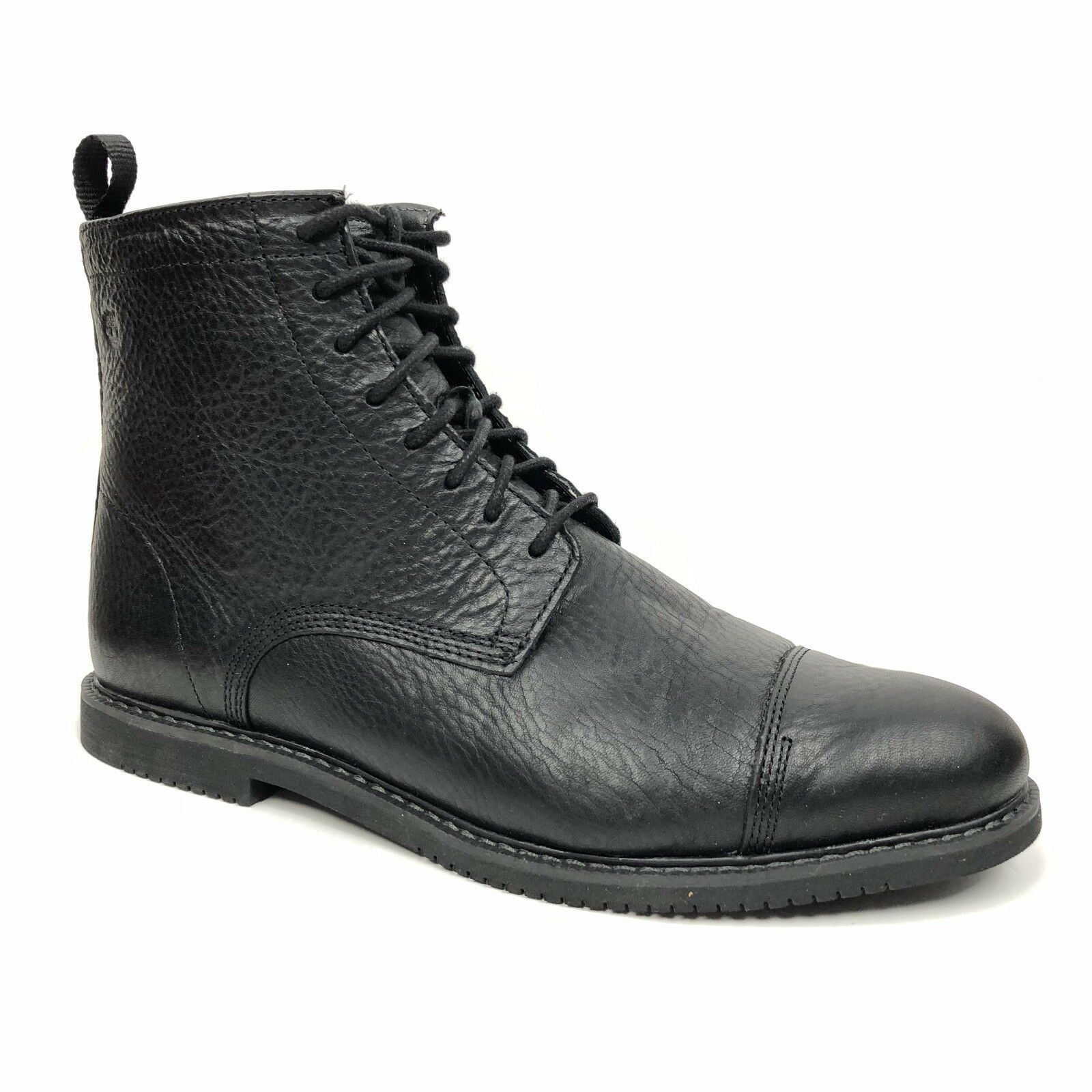 Timberland Men's Cobleton Side Zip Black Full Grain Leather Ankle Boots 5547A
