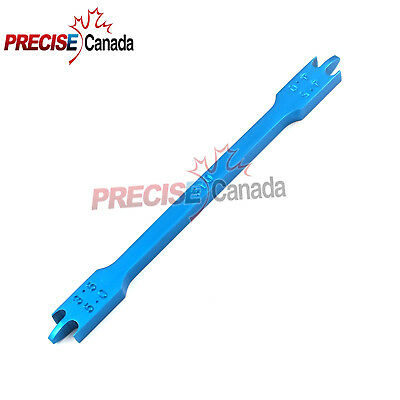 Bracket Height Gauge 022 Stainless Steel Blue Orthodontic Inst