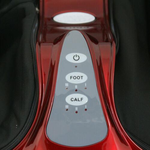 Shiatsu Kneading Rolling Relax Foot Calf Leg Massager Home Burgundy