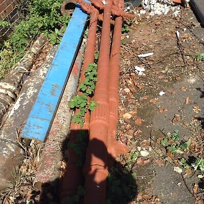 Antique Cast Iron Lampost  One Only. With Options