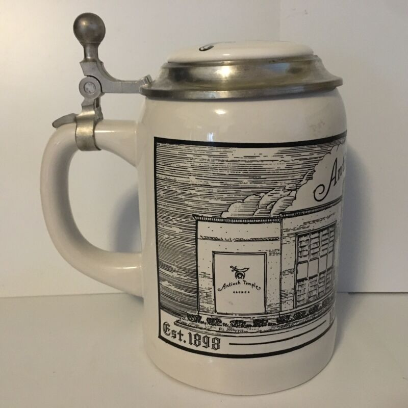 Vintage Shriner Freemason mug stein Antioch Temple 100th Anniversary Dayton Ohio