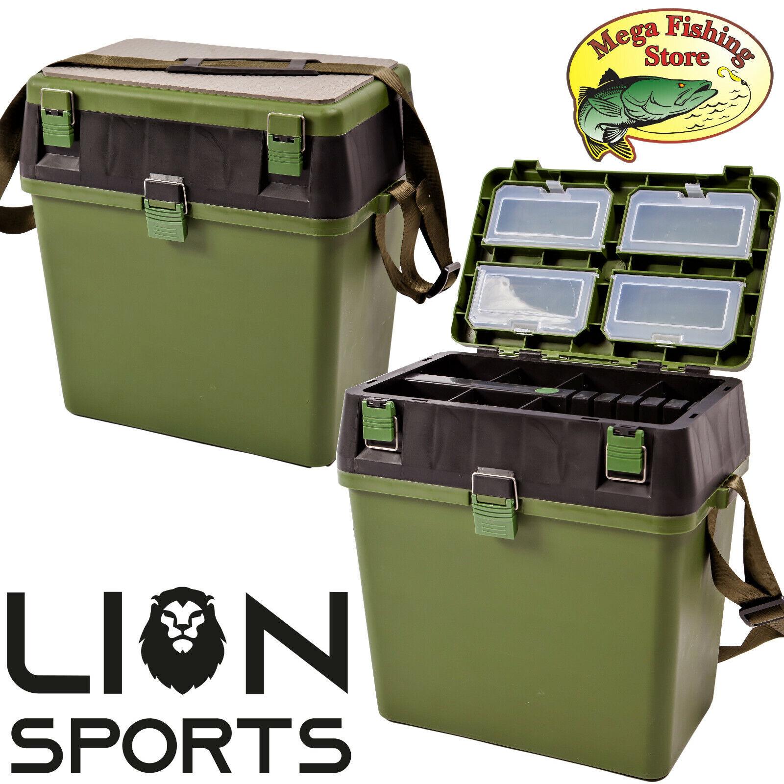 LION Seatbox Angelbox - Sitzkiepe / Tacklebox / Sitzbox Angel Koffer Box Angeln