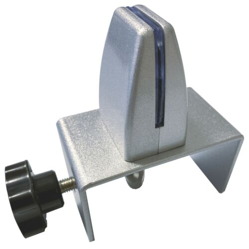 """Sneeze Guard Support Clamp Bracket for 1-3/4 to 3"""" Cubicle Panel w/ C-Clamp Base"""