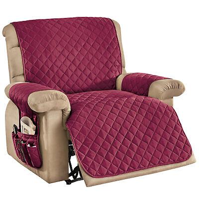 3 piece storage diamond pattern recliner cover