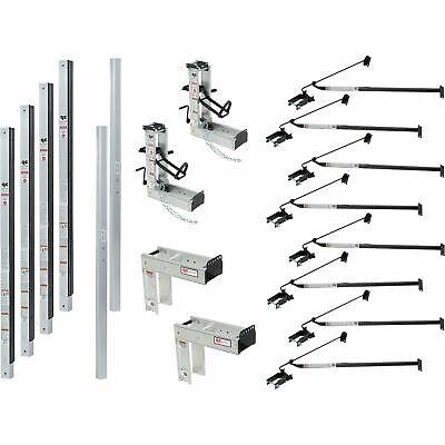 Qual-craft Aluminum Pump Jack Scaffolding System Starter Kit- 48ft 3017