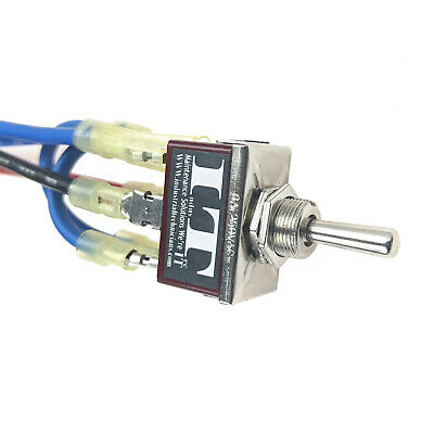Industec 10 Amp Motor Polarity - Reversing Momentary Toggle Switch And Wires 12v