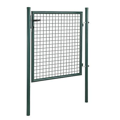 [pro.tec]® Gartentür 150x106 grün Gartentor Zauntür Gartenpforte Gartenzaun Tür
