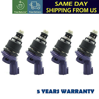 240sx Fuel Injector (4x 375cc Fuel Injector 16600-67U01 For Nissan 240SX Silvia KA24DE S13 14)