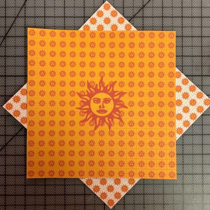 BLOTTER ART - Orange Sunshine Limited X 2 Blots - 900 Squares Each