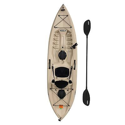 Lifetime 10ft Tamarack Angler Kayak Sit On Top Fishing with Paddle Tan