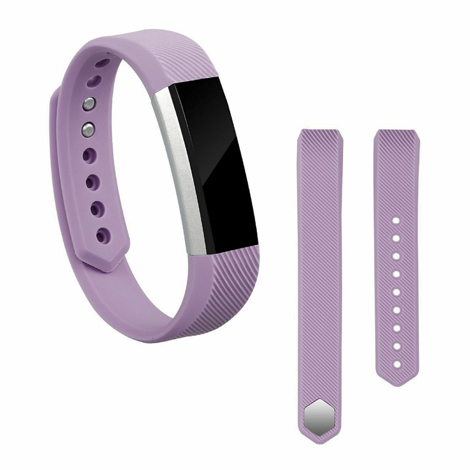 Replacement Silicone Wrist Band Strap For Fitbit Alta/ Fitbit Alta HR Purple