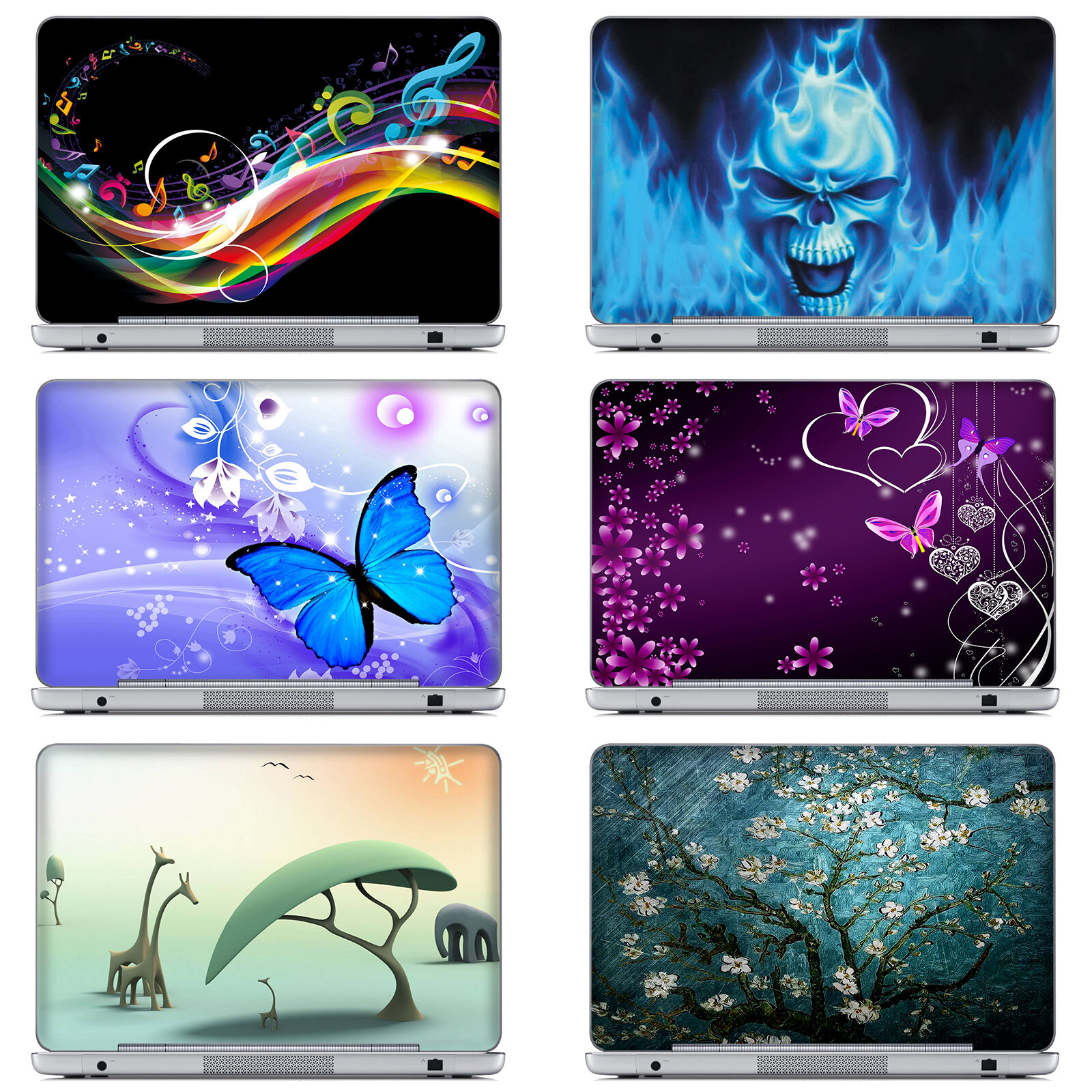 "10""-17"" Laptop Computer Skin Sticker Decal Cover For ASUS DE"