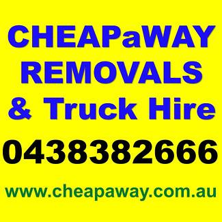 TRUCK + 2 MEN HIRE | Furniture | Removalist | CHEAPaWAY Removals