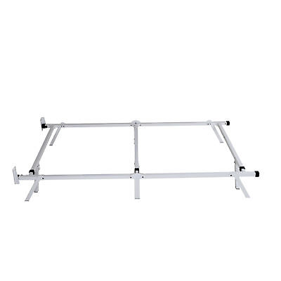 intelliBASE Low Profile Adjustable Twin Full Queen Box Spring Bed Frame White 9