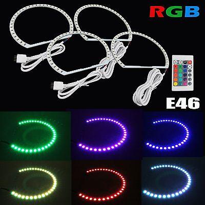 7 Color Led Rings - Multi-Color RGB LED Angel Eye Halo Rings For BMW E39 E46 3 5 7 Series Headlight