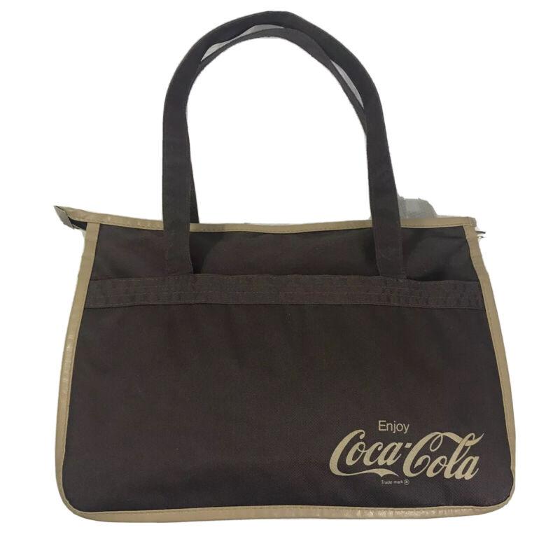 Coca Cola Bag Purse Tote Brown Tan Canvas Vintage