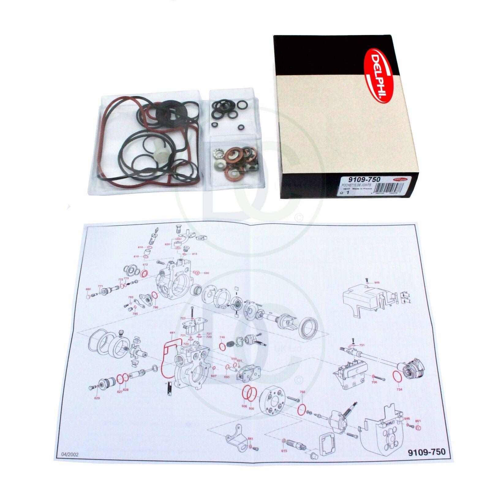 Gasket Kit for CAV Delphi Lucas-Epic-Diesel injection pump en Mercedes...