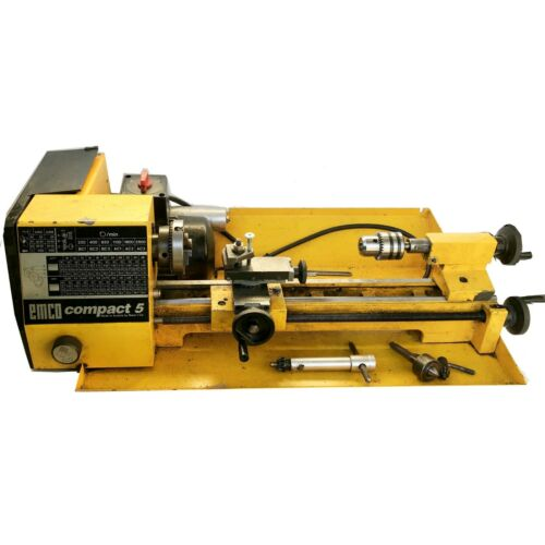 EMCO COMPACT 5 LATHE USED WORKING CONDITION
