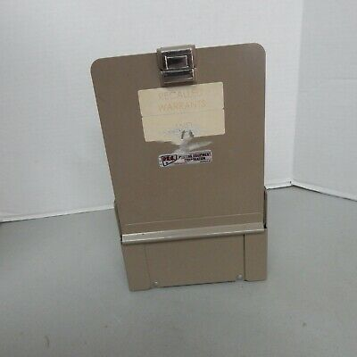 Vintage Metal File Desk Organizer Gray Industrial Office Warehouse Pec Brand