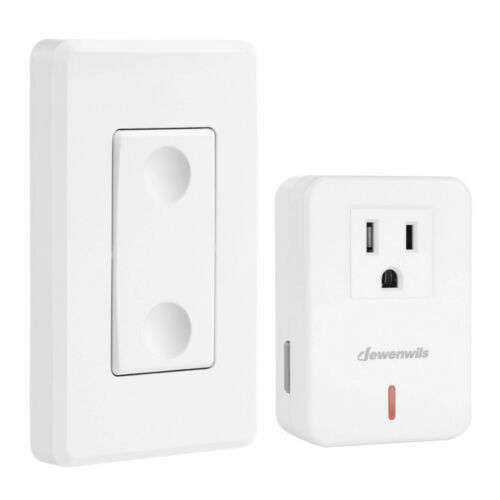 DEWENWILS Remote Control Outlet Plug in On Off Power Switch for Lamp
