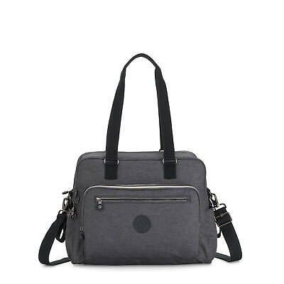 Kipling Alanna Printed Diaper Bag Charcoal
