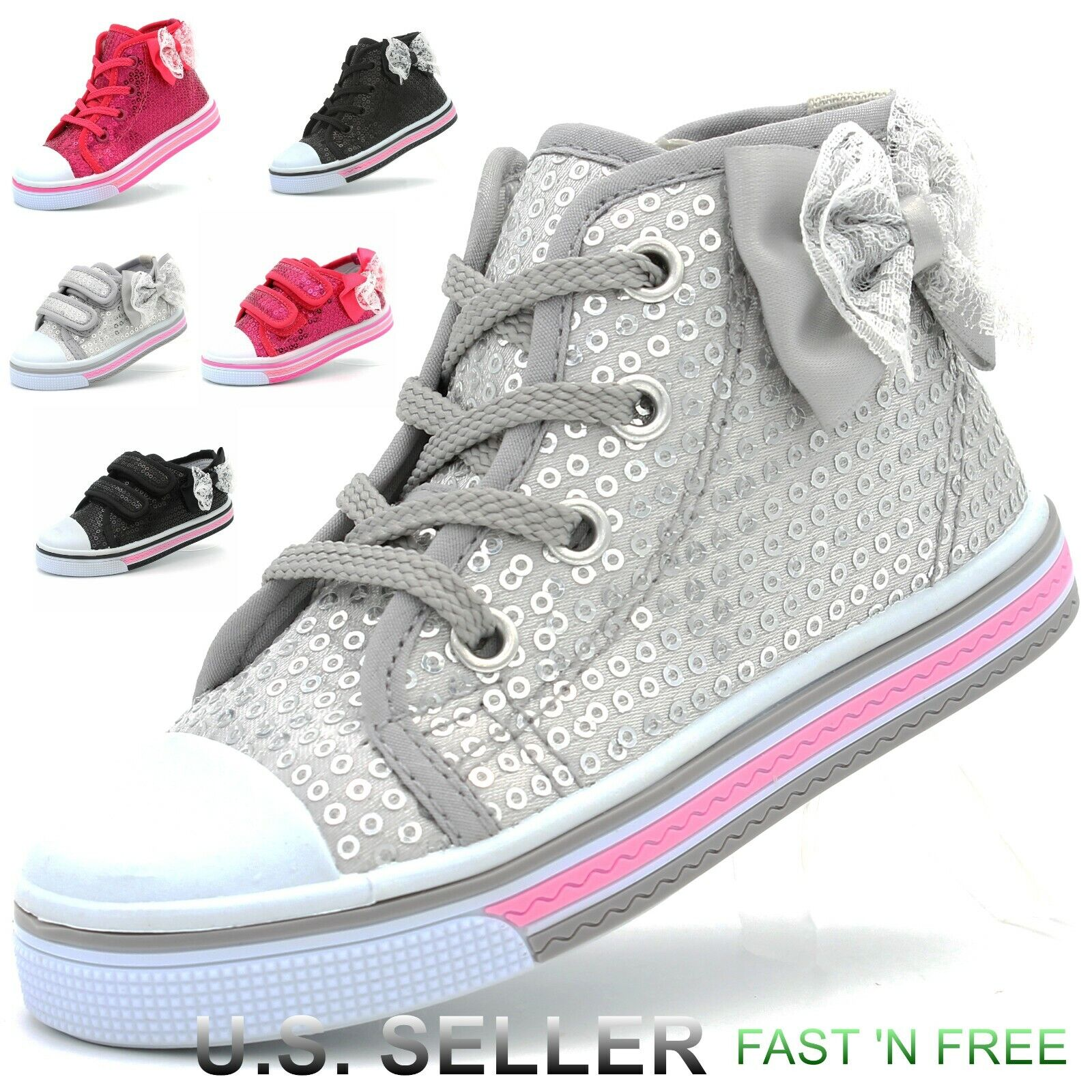 Girls Toddler Canvas Shoes Sneaker Strap Little Kid Baby Flo