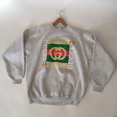 Vintage Bootleg Gucci Crewneck Sweatshirt Size XXL 80's 90's New Old Stock NOS!