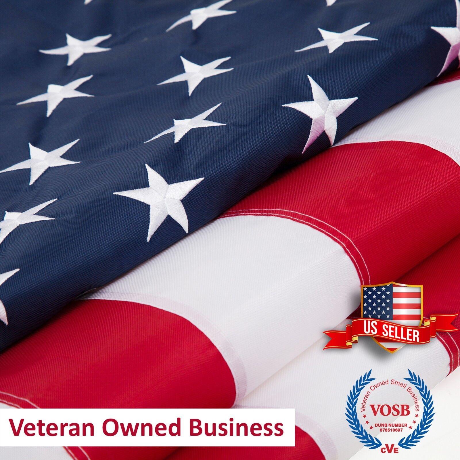 2x3 3x5 4x6 5x8 6x10 8x12 10x15 American Flag US Embroidered