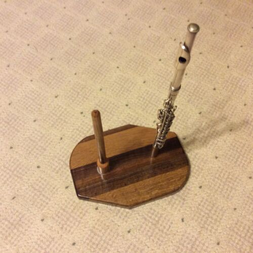 HARDWOOD FLUTE/PICCOLO STAND MADE BY TJ WOODWORM