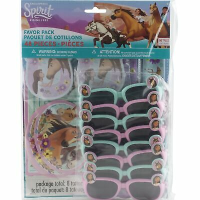 Spirit Riding Free Horse Birthday Party Supplies Favor Pack 48 Pc Bracelets etc](Horse Birthday Party)