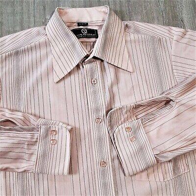 1970s Men's Shirt Styles – Vintage 70s Shirts for Guys Vintage 70s Van Heusen Qiana Nylon Disco Shirt 1970s Retro Atomic Mod Knit L 16 $47.54 AT vintagedancer.com