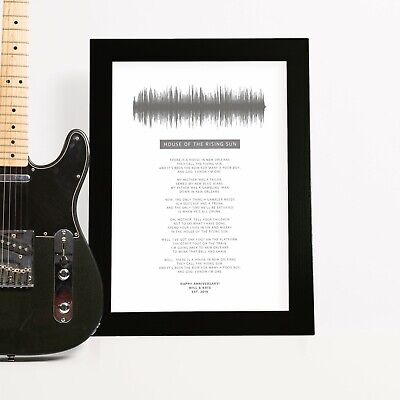 Personalised Song Lyrics Wedding Anniversary Gift For Him Husband Best (Best Wedding Anniversary Gifts For Men)
