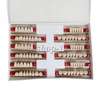 5x 84pcs Dental Acrylic Resin Denture Teeth Color A2 Upper Lower Shade
