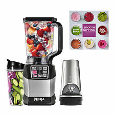 Ninja Auto-IQ Nutri Ninja 1200W 72oz Blender, 2 24oz Cups, & 100 Recipe Cookbook