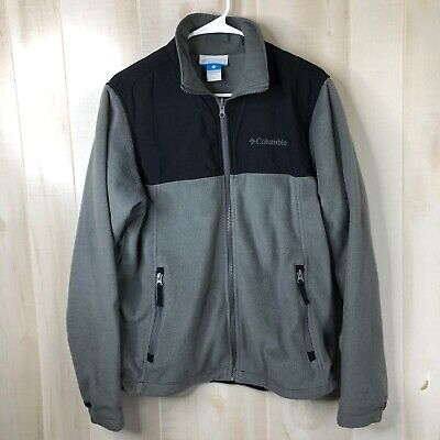 COLUMBIA BUGABOO Mens Interchange Fleece Gray Jacket Coat Size Medium Bugaboo Gray Fleece