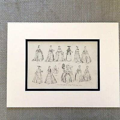 1900 Antik Mode Aufdruck Historical Kostüm Damen Kleid durch die Alter