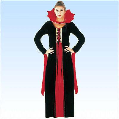 ra Größe 38/42 Samt Vampirkostüm Frauen Vampiresa Fasching (Frauen Vampir)