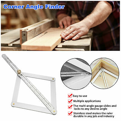 38cm Corner Angle Finder Aluminum Alloy Protractor Ruler Square Woodworking Tool