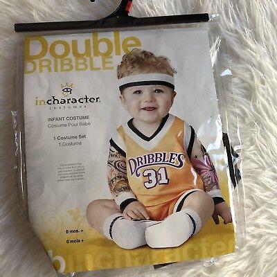 Double Dribble Lakers Basketball Baby Costume 0-6 Months InCharacter Halloween - Infant Basketball Halloween Costume