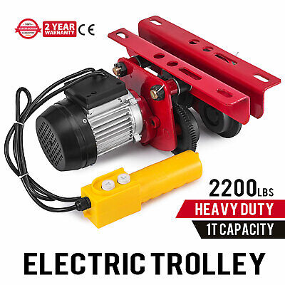 Electric Push Beam Trolley - 2200-lb. Capacity