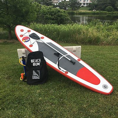 Beach Bum Spk2   10 10 Inflatable Stand Up Paddle Board W  Paddle And Leash