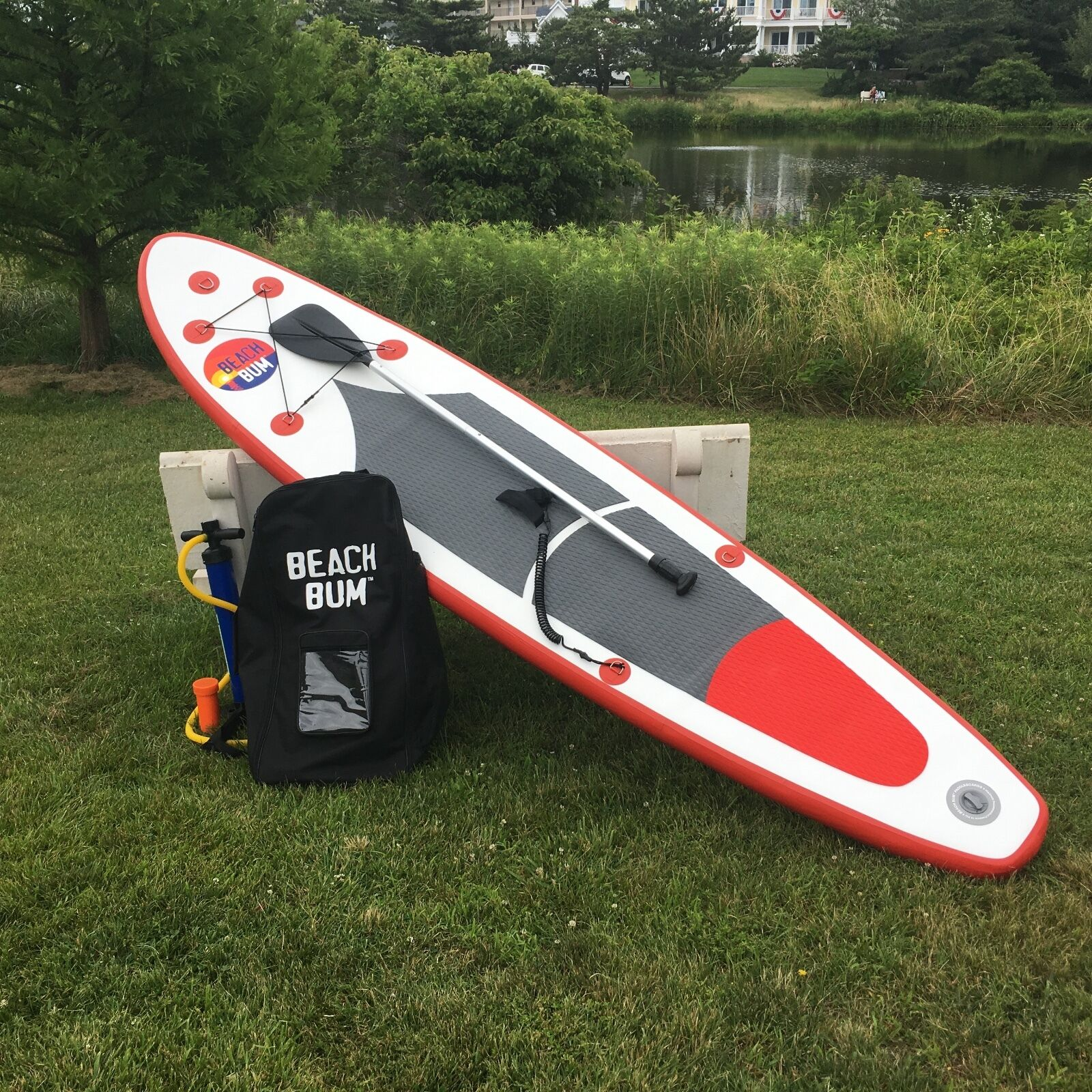 Beach Bum SPK2 - 10' 10'' Inflatable Stand Up Paddle Board w/ Paddle and leash