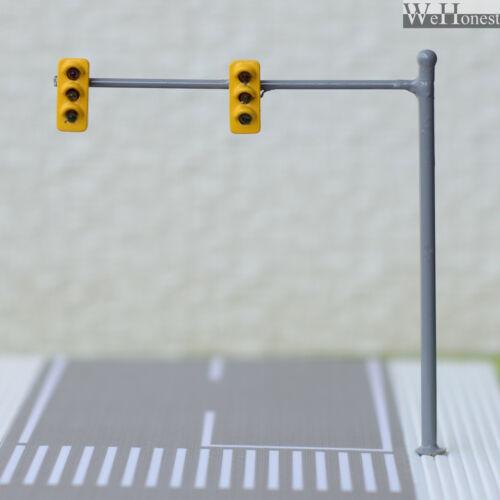4 x HO / OO traffic light signal LED model train pedestrian crossing sign #V2B3