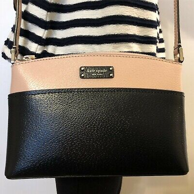 NWT KATE SPADE Jeanne Crossbody Leather Bag Warm Vellum Black WKRU6037 $199
